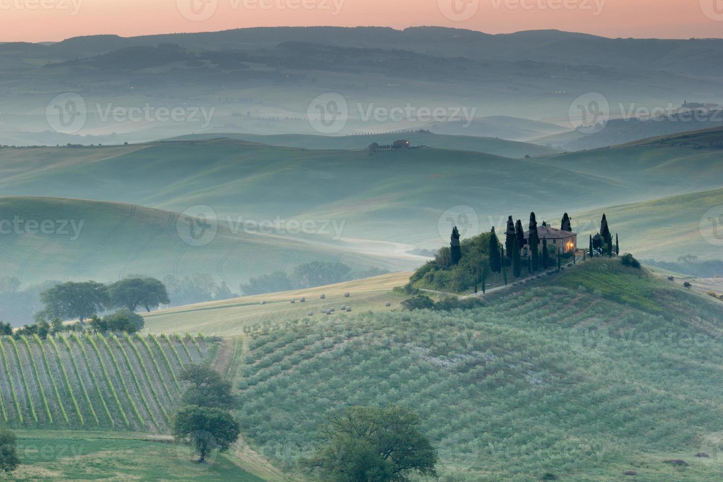 die toskanische Landschaft foto