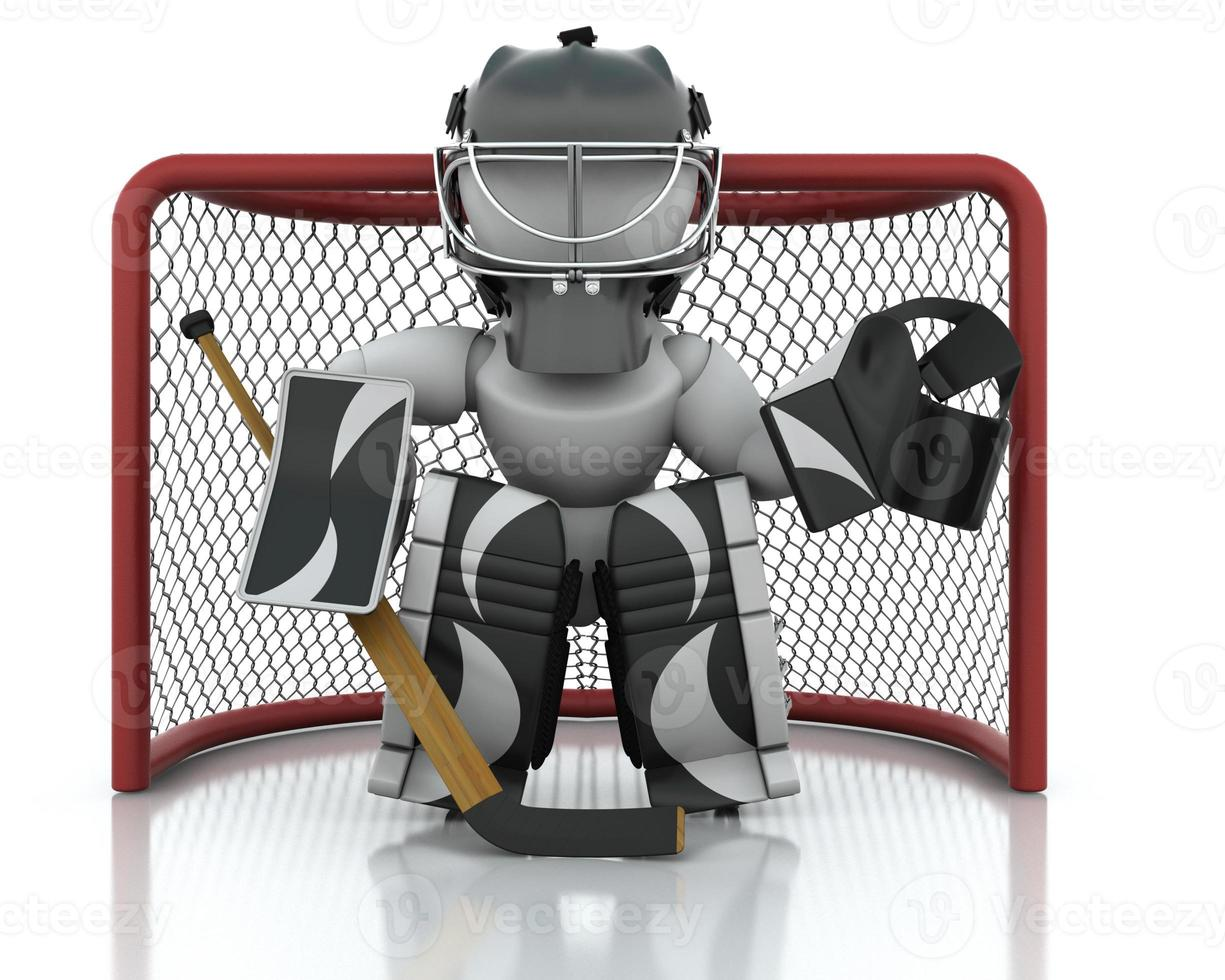 Eishockeytorwart foto