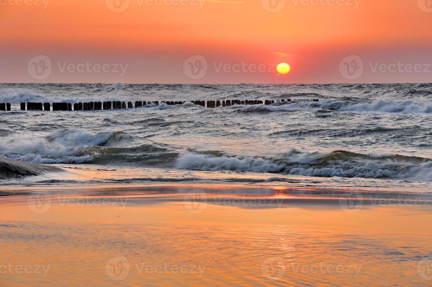 Ostsee in schöner Landschaft foto