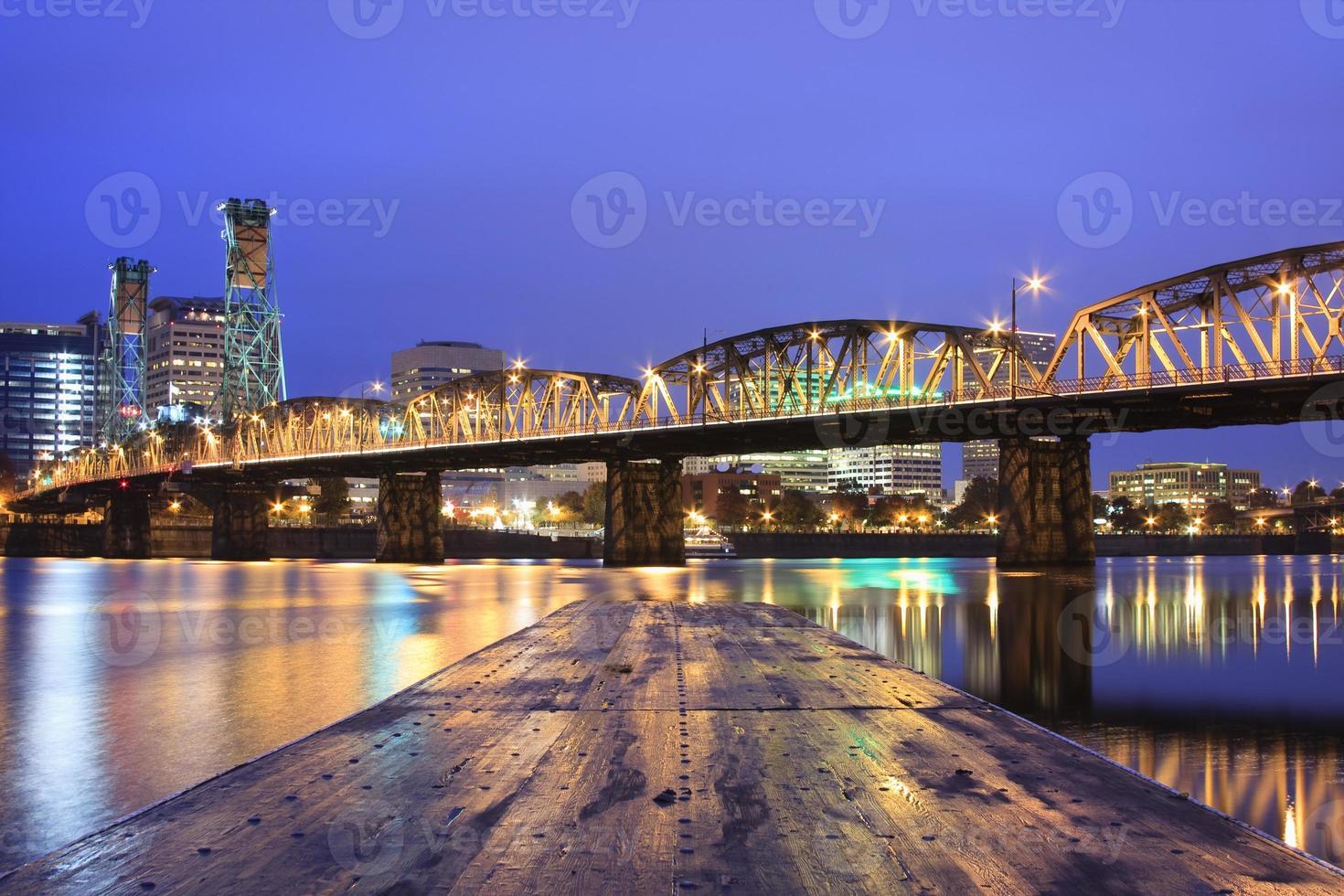 Landschaft von Portland, Oregon, USA. foto