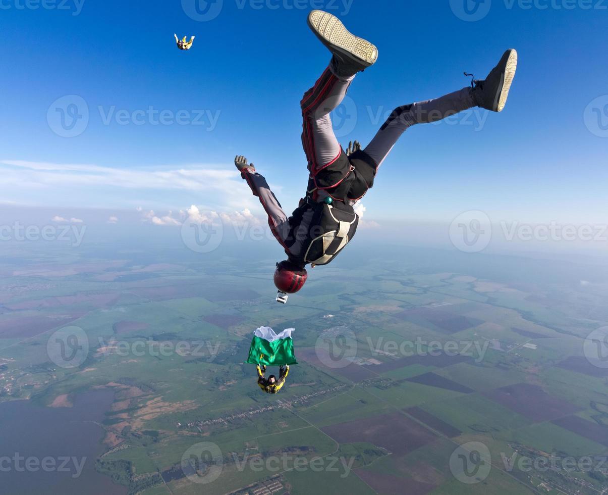 Fallschirmspringen Foto. foto
