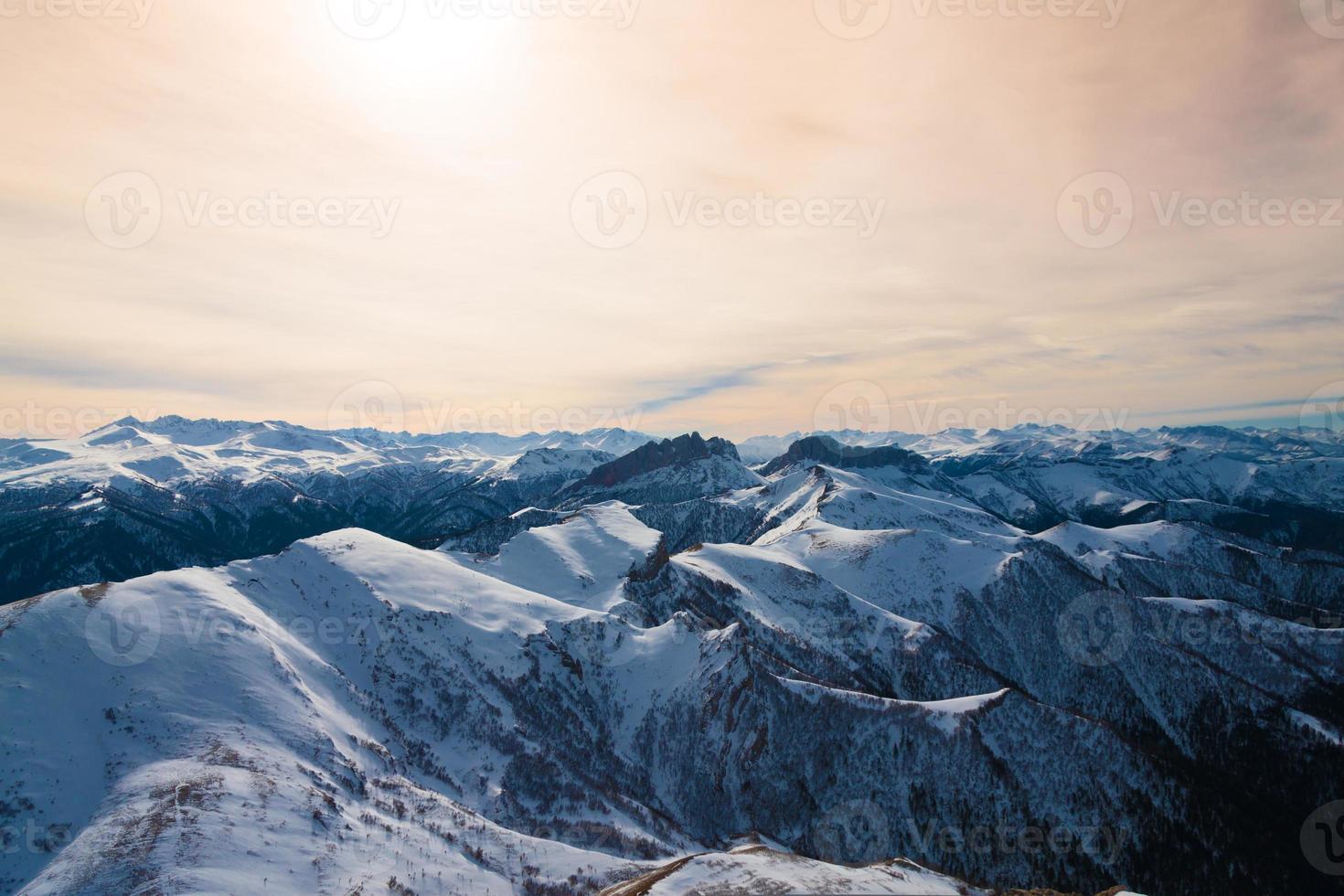 Berg Sonnenuntergang Winter foto
