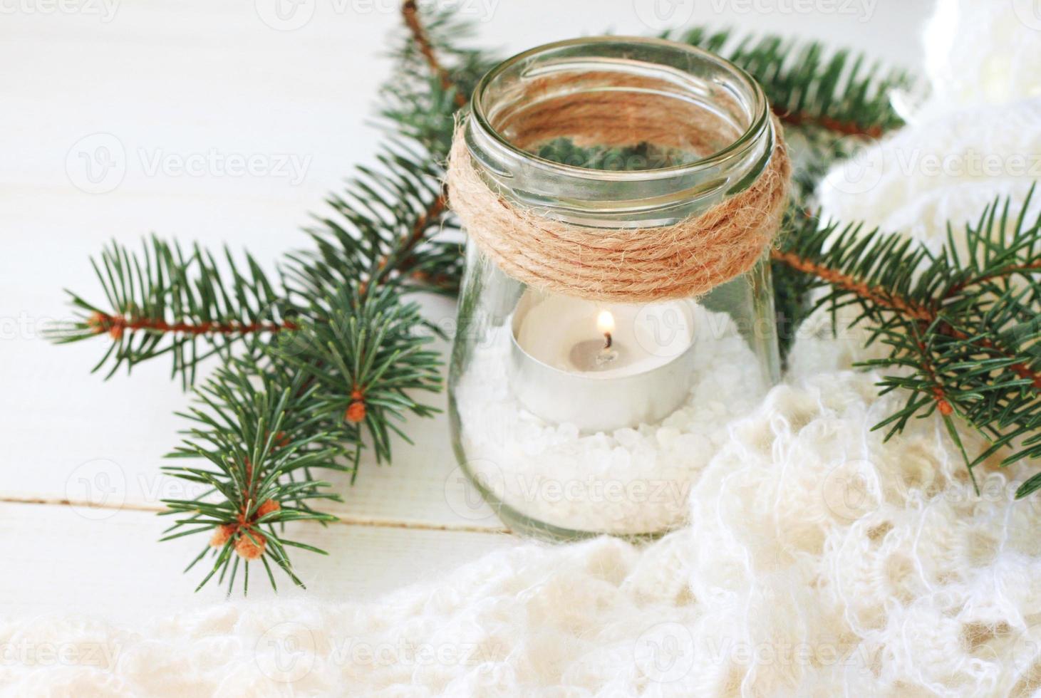 Kerzenhalter im Winterstil foto
