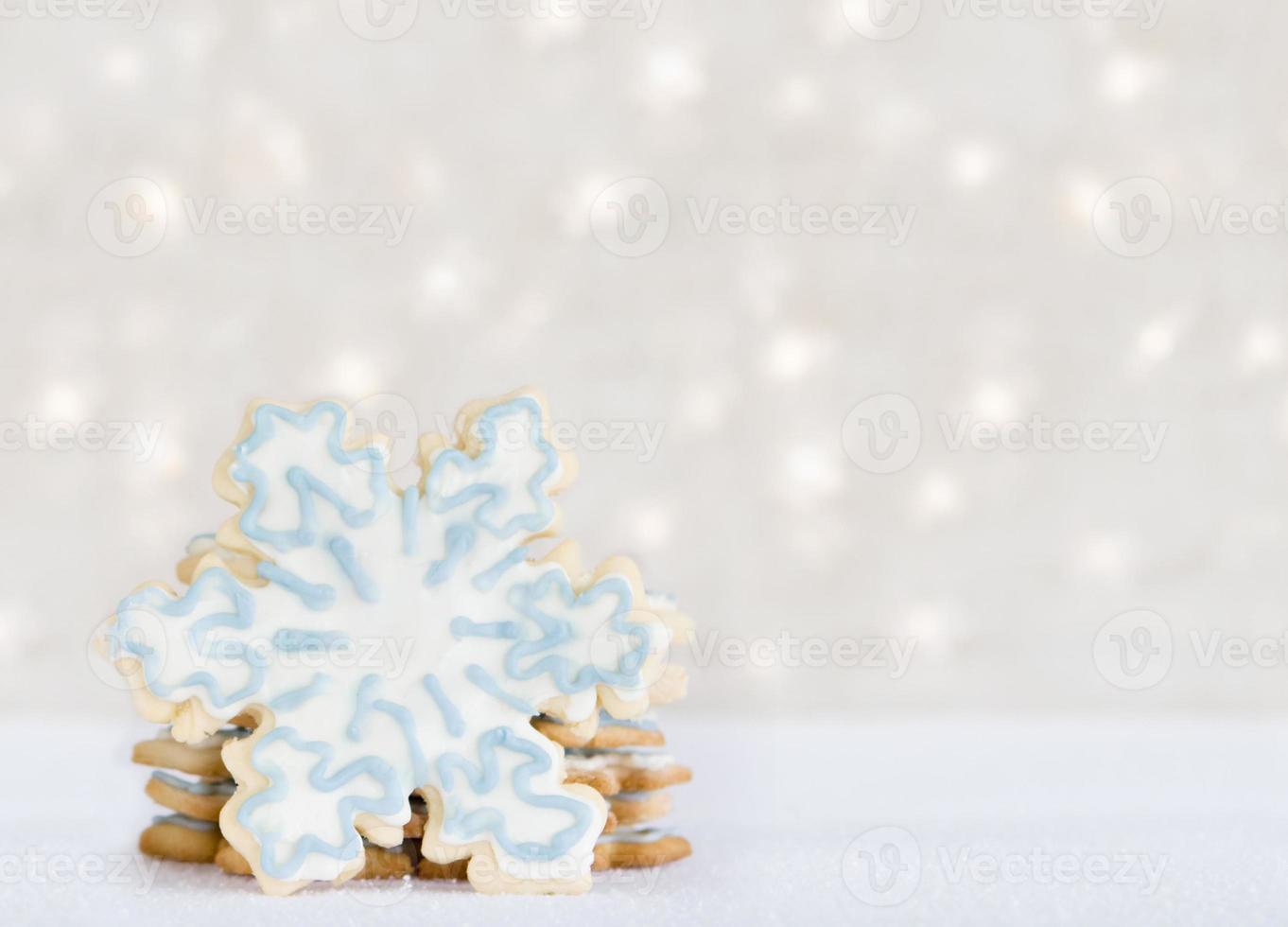 Schneeflockenplätzchen - Wintergenuss foto