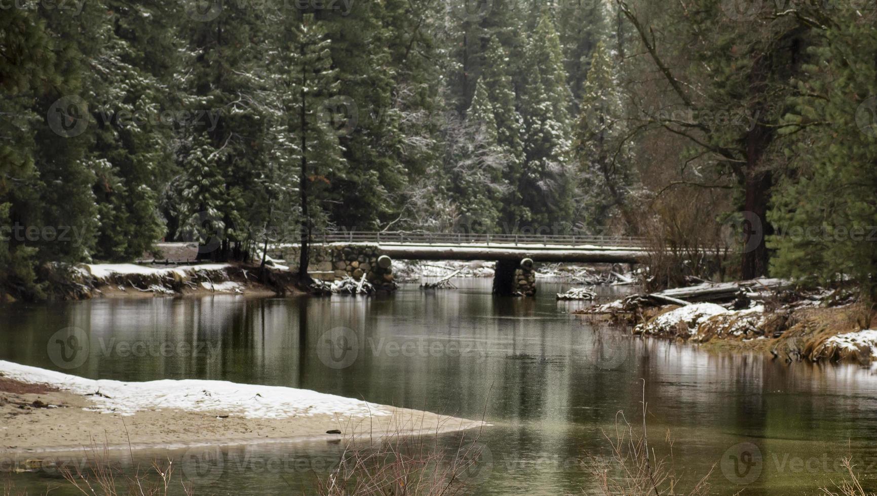 Winterbrücke foto