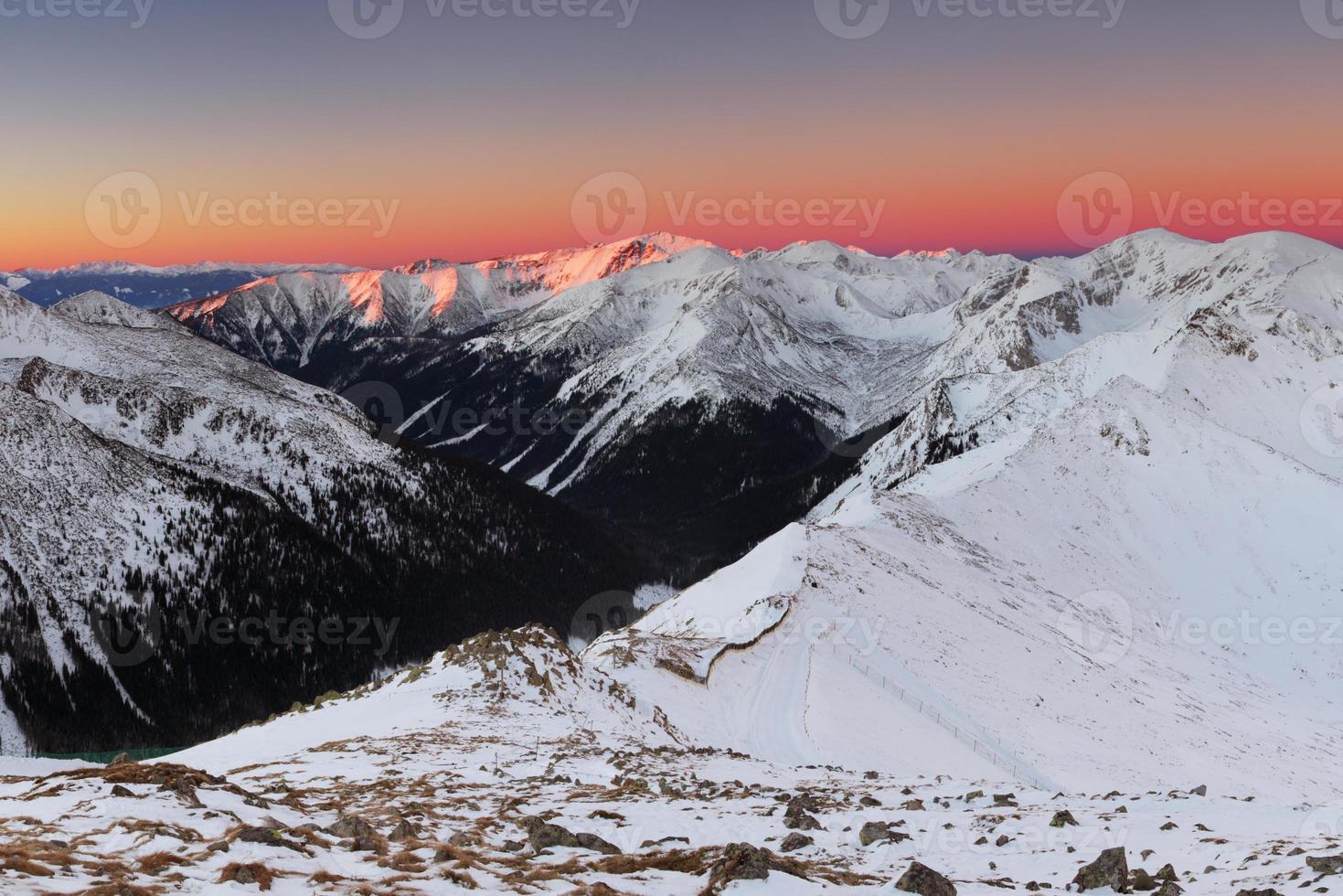 Tatras Winter in Polen foto