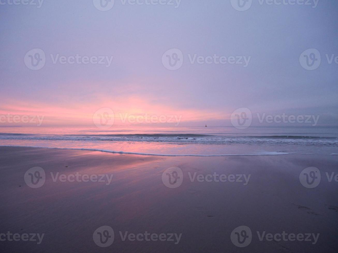Strand Winter Sonnenaufgang Branksome Chine foto