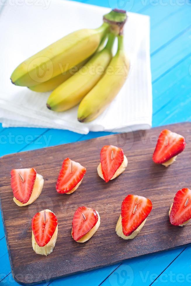 Erdbeere mit Banane foto