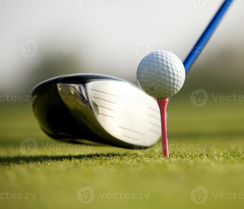 Golfclub auf einem Golfplatz foto