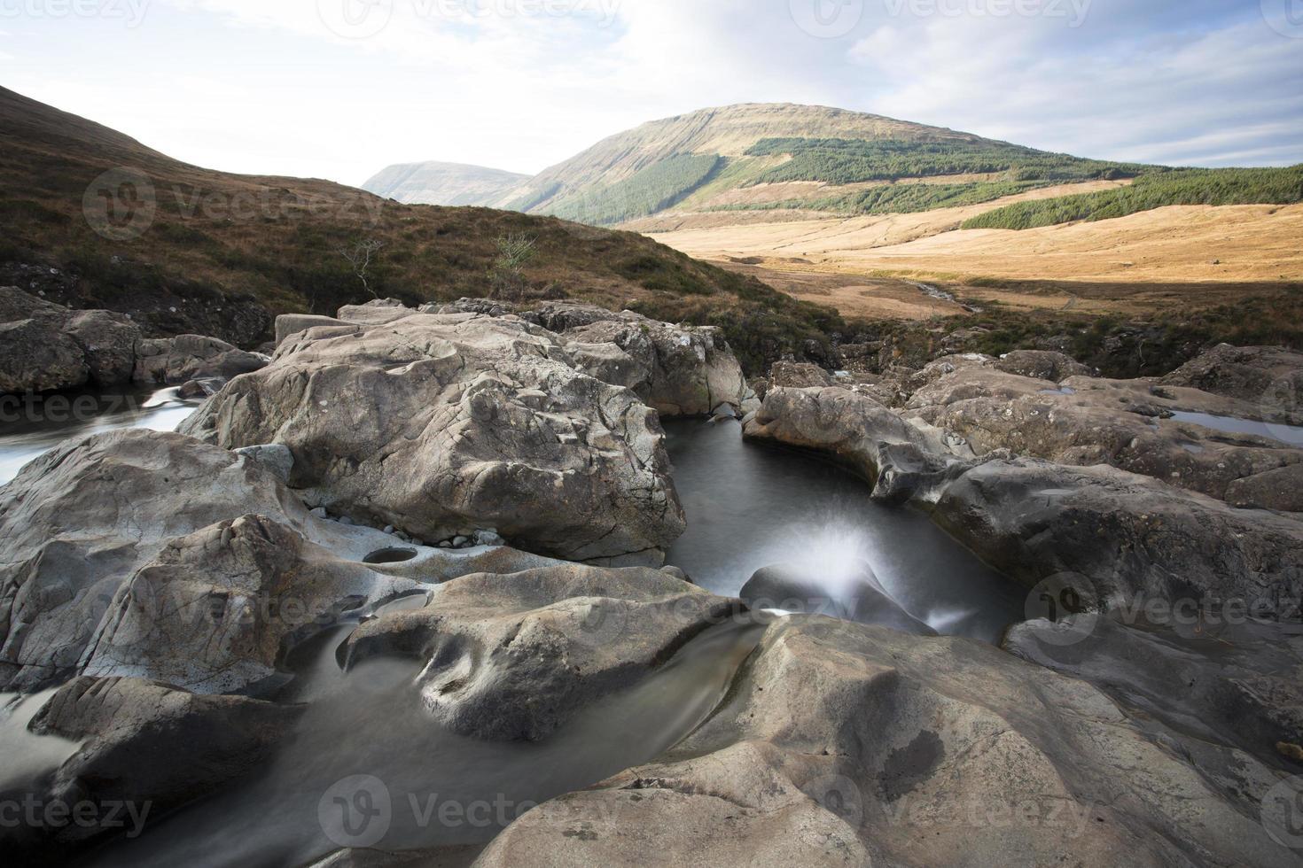 Wasserfall mit schöner Aussicht foto
