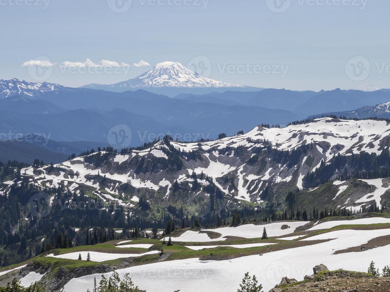 Blick auf Mount Adams, Washington foto