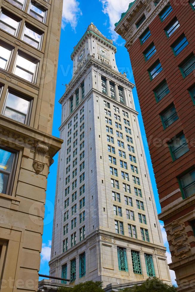 Boston Clock Tower Zollhaus Massachusetts foto