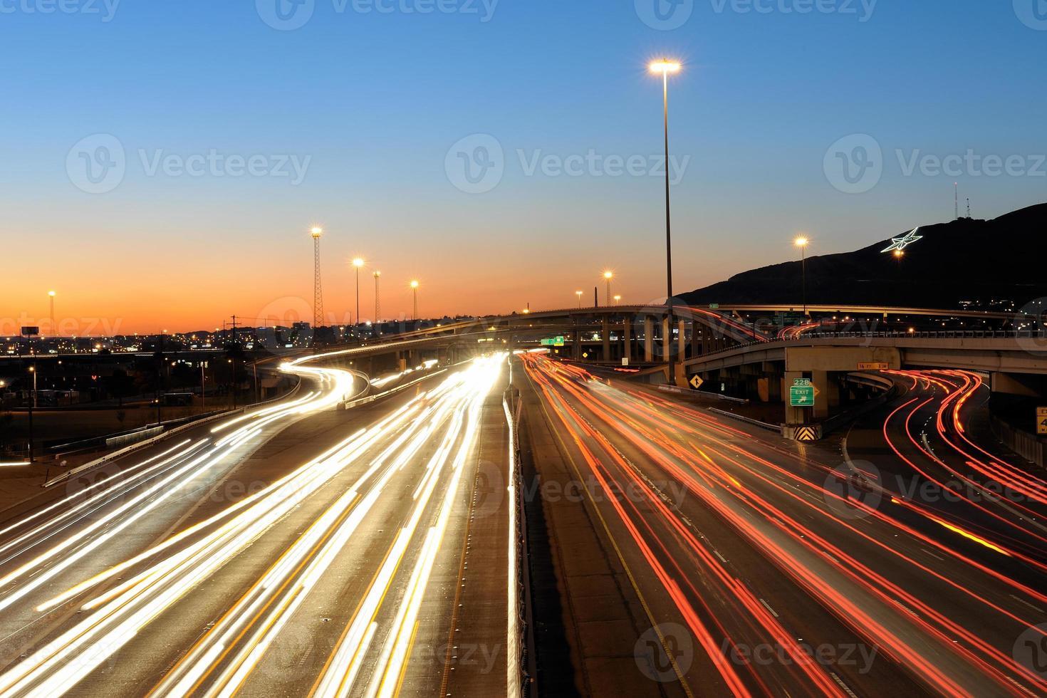 Hauptverkehrszeit in El Paso, Texas foto