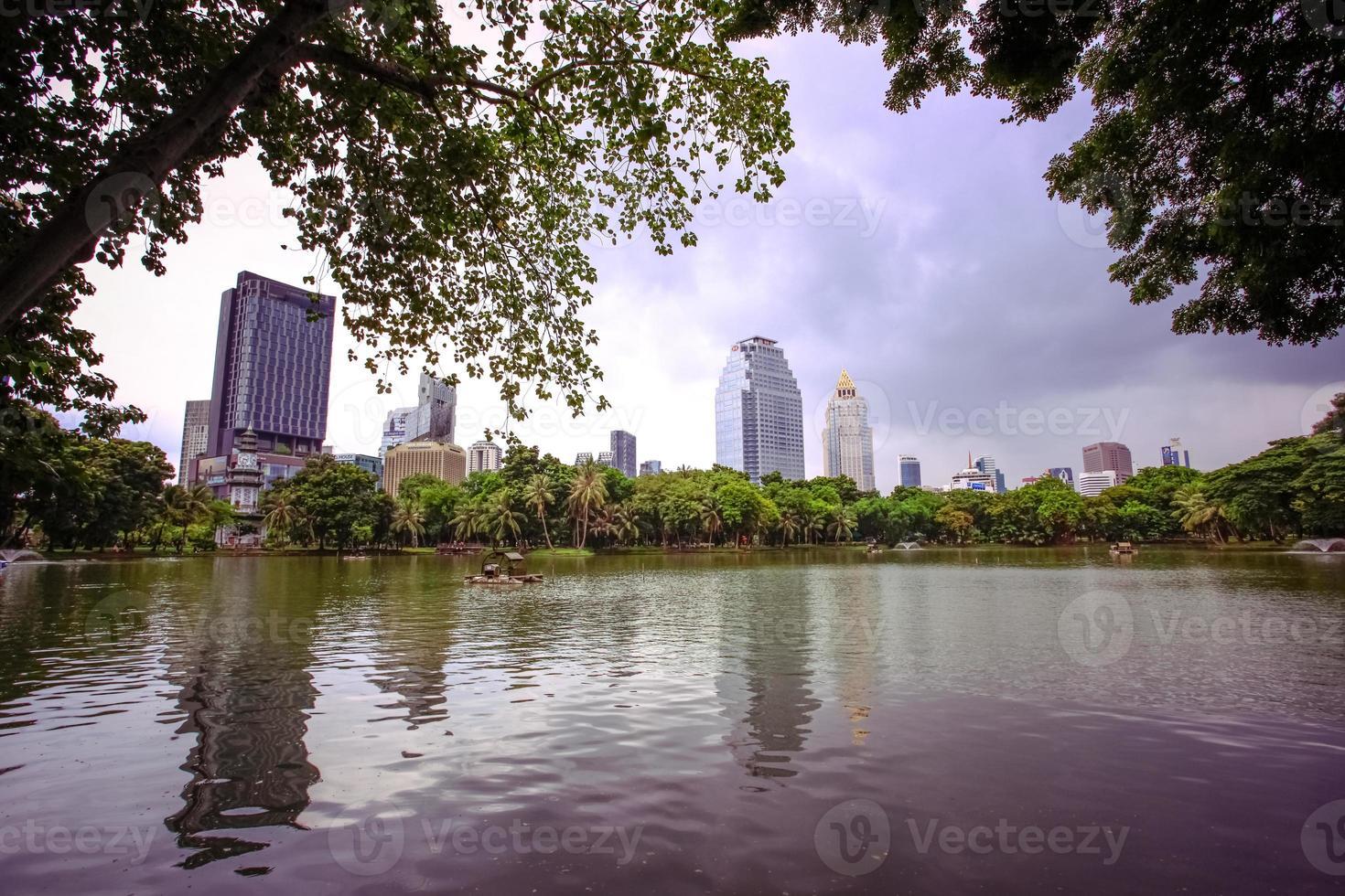 Bangkok Stadtblick mit Garten foto
