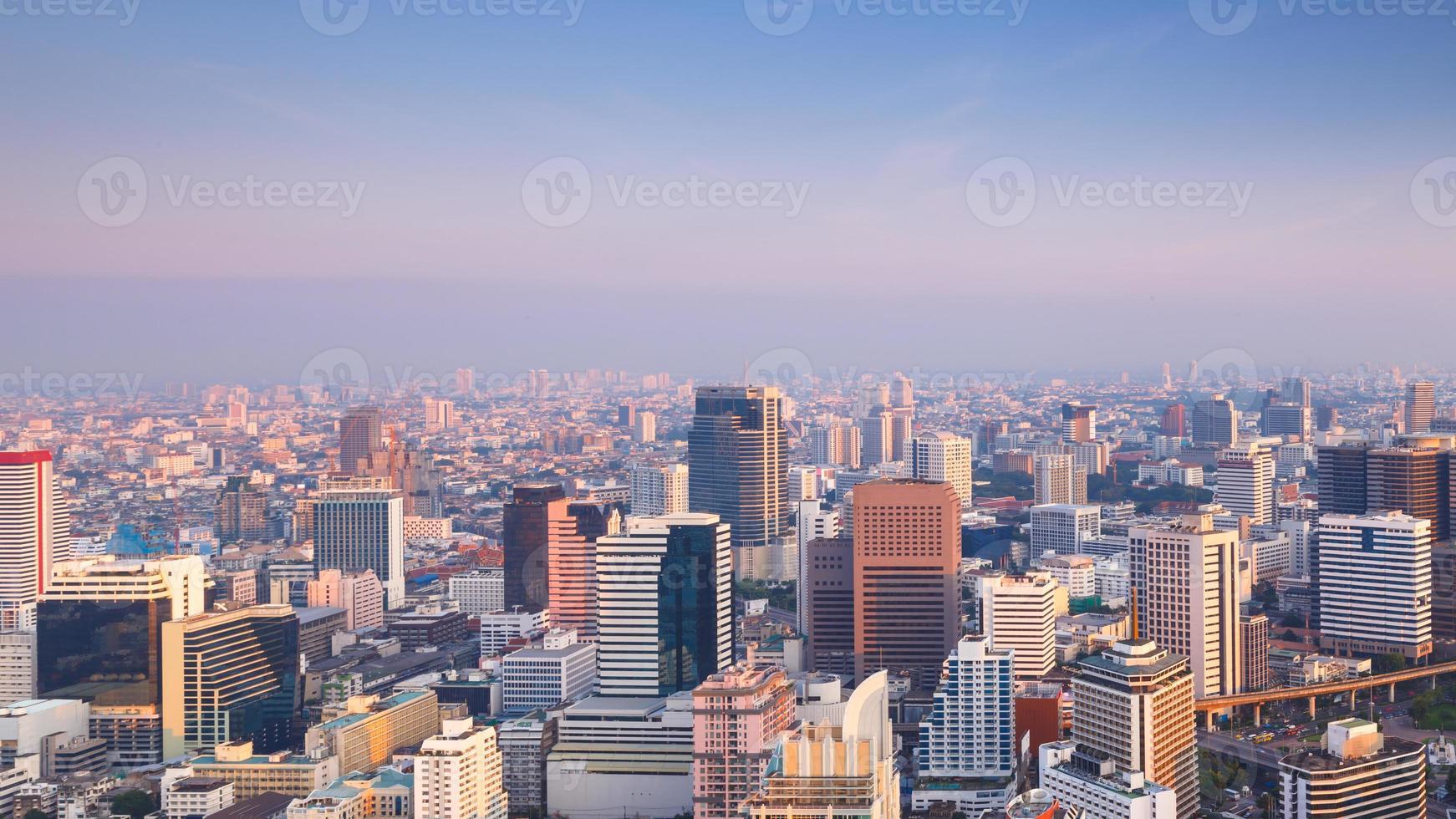 Bangkok Stadtbild am Morgen foto