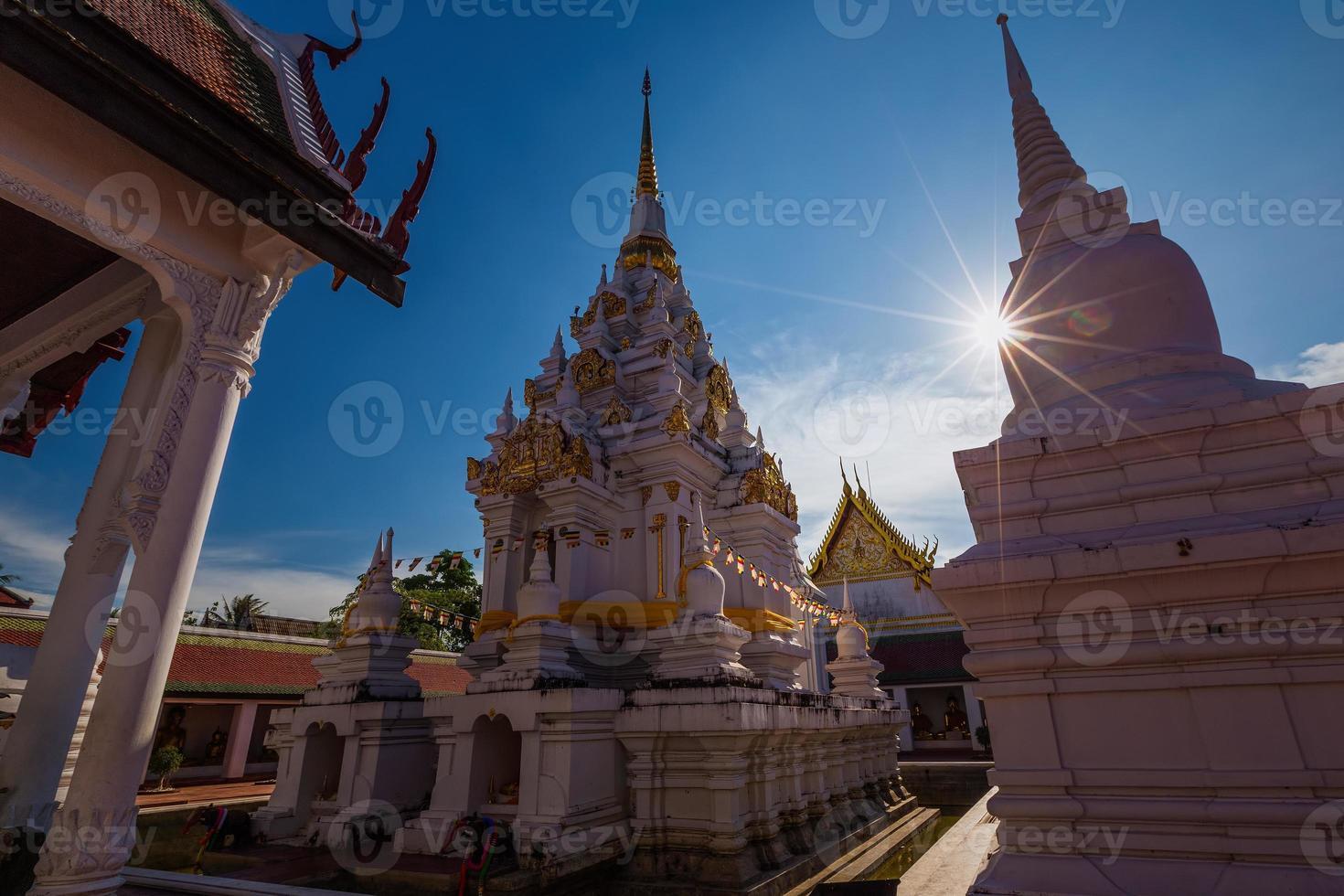 Buddhas Relikte Chaiya Pagode Suratthani, südlich von Thailand foto
