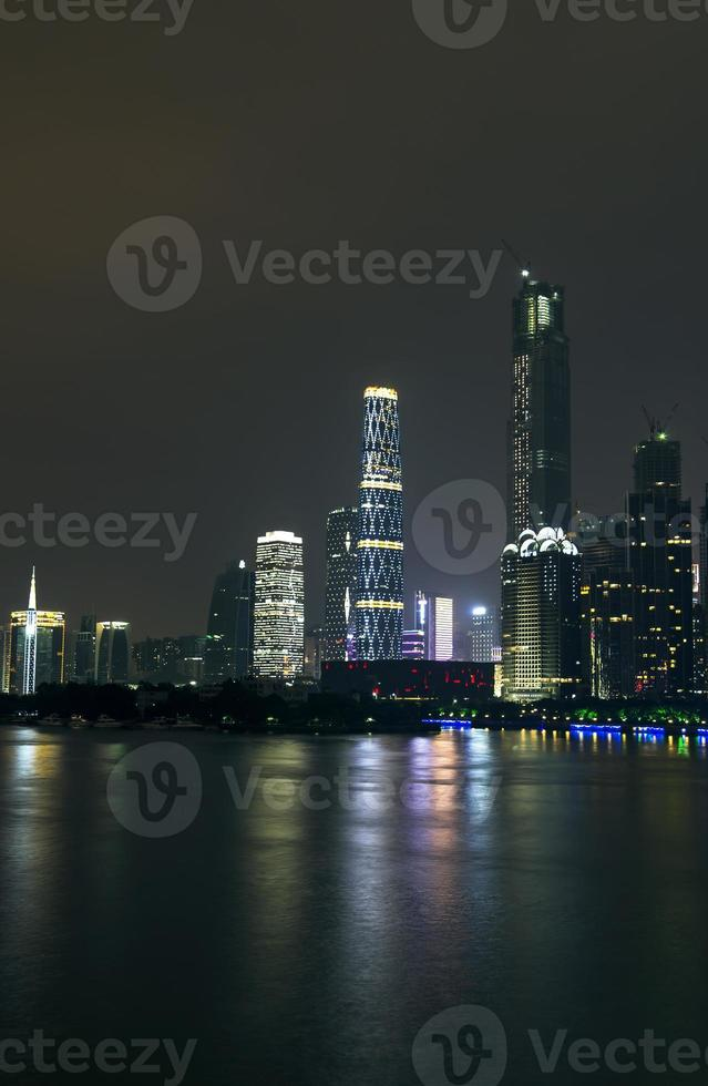 Guangzhou Stadt Nacht foto