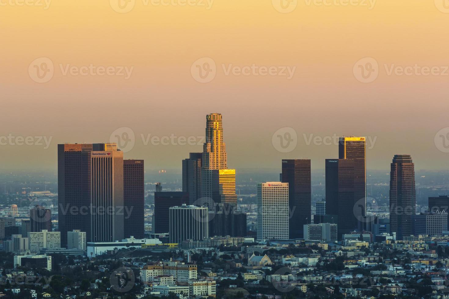 Blick in die Innenstadt von Los Angeles foto