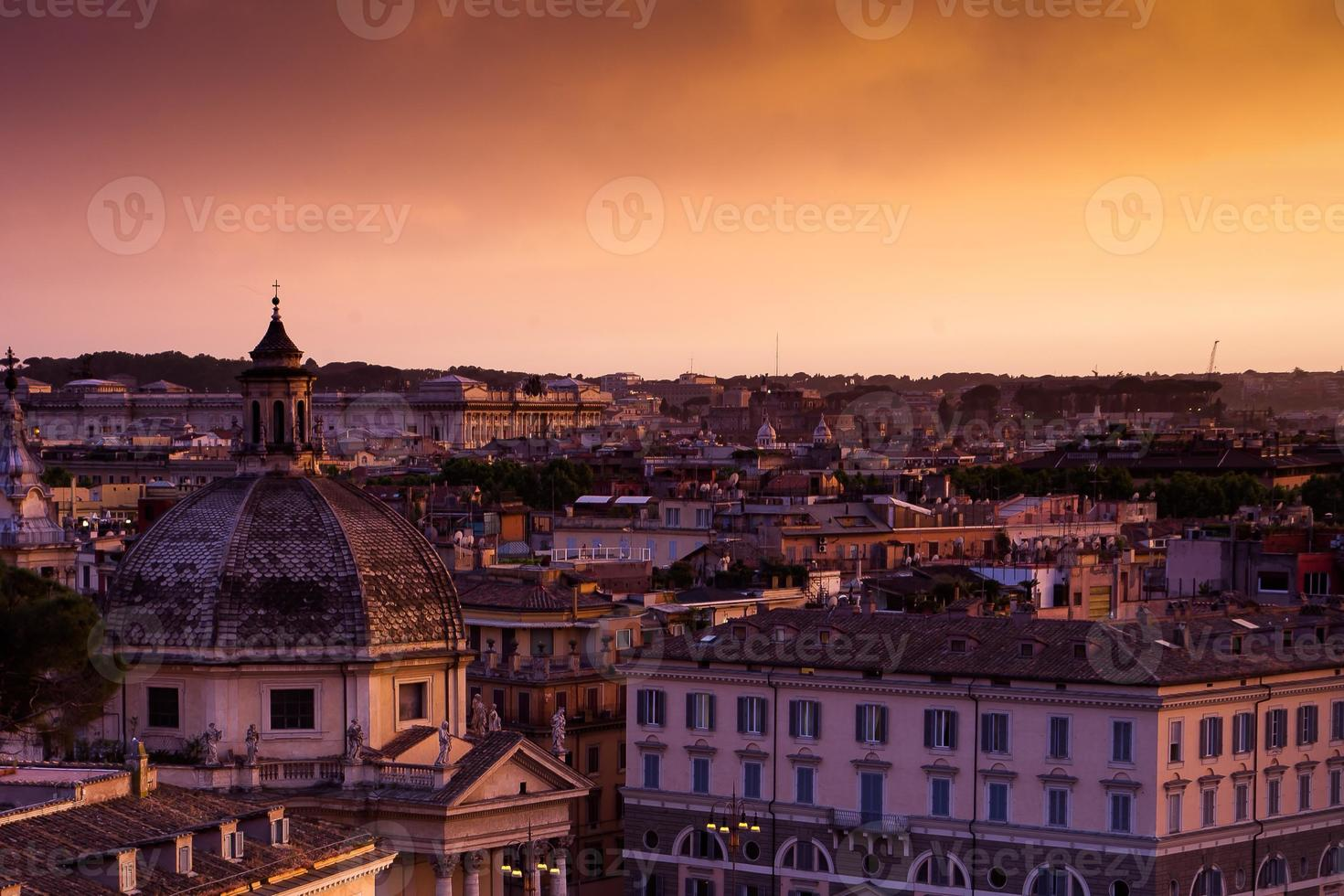 Rom bunter Sonnenuntergang foto