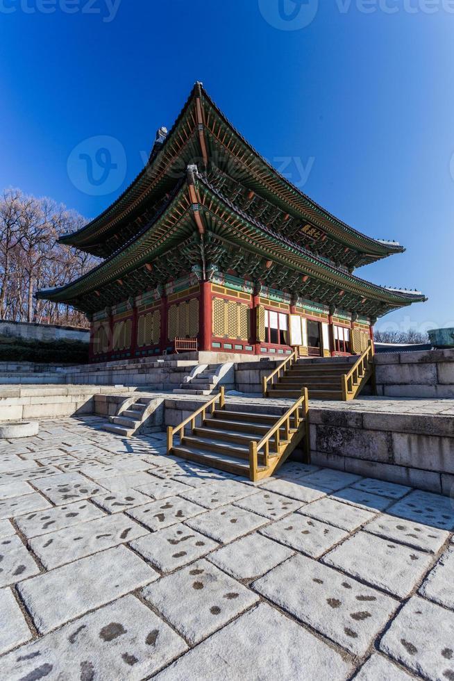 traditionelle koreanische Architektur in Seoul, Südkorea. foto