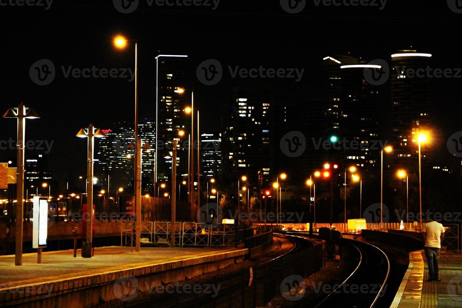 Nachtskyline foto