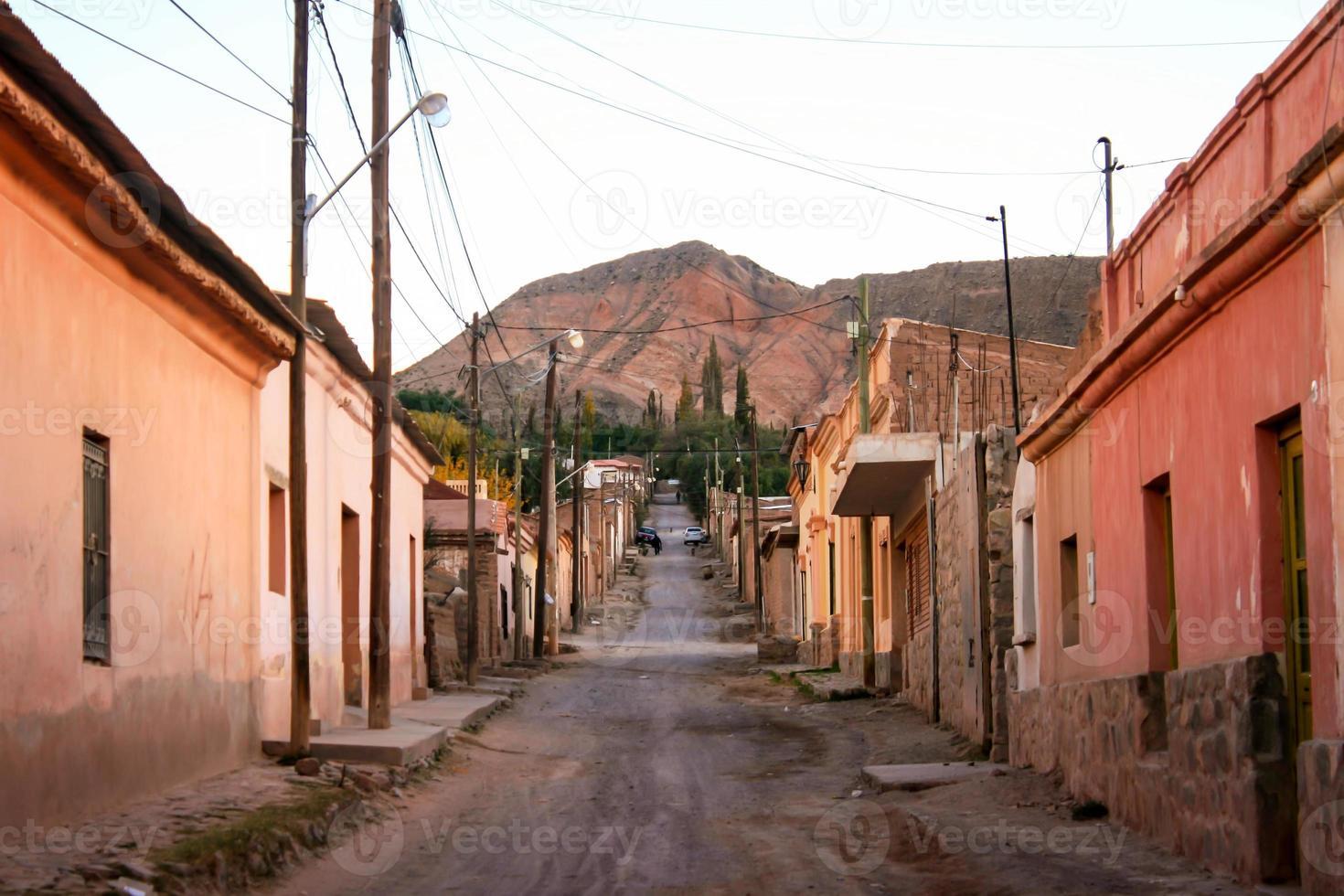 Straße in Tilcara foto