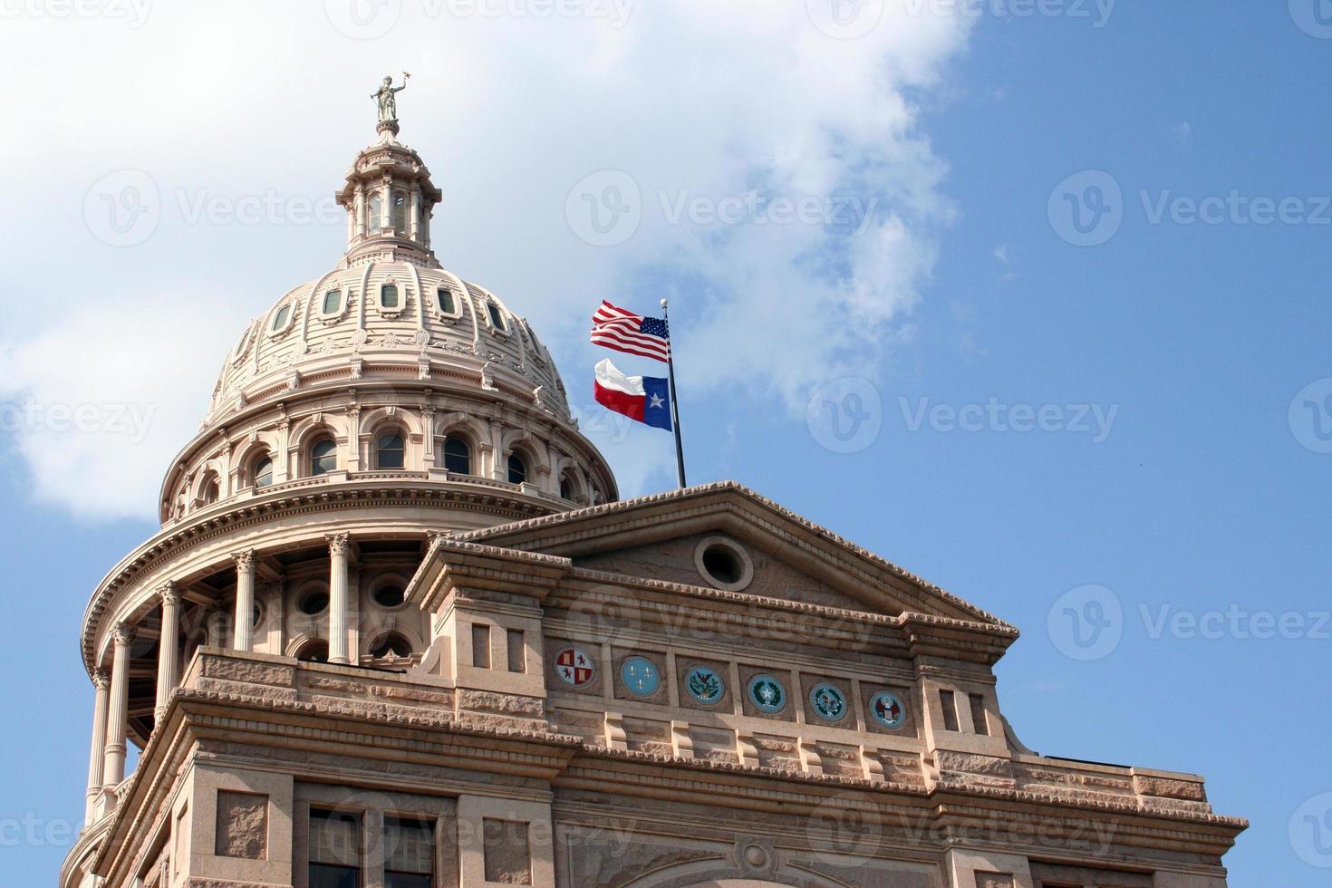 State Capitol Gebäude in der Innenstadt von Austin, Texas foto