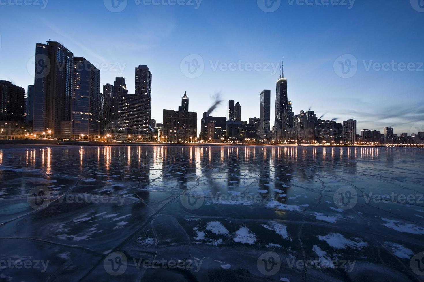 Abend in Chicago, Goldküste foto
