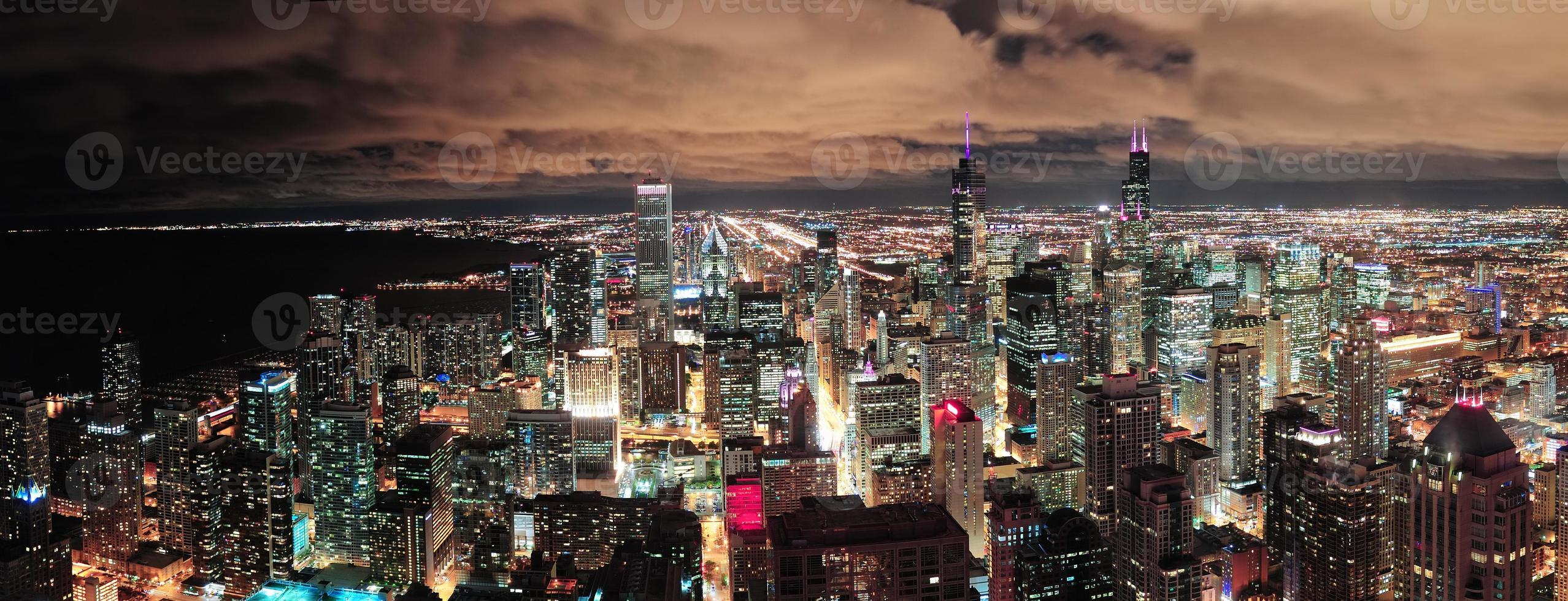 Chicago Urban Skyline Panorama foto