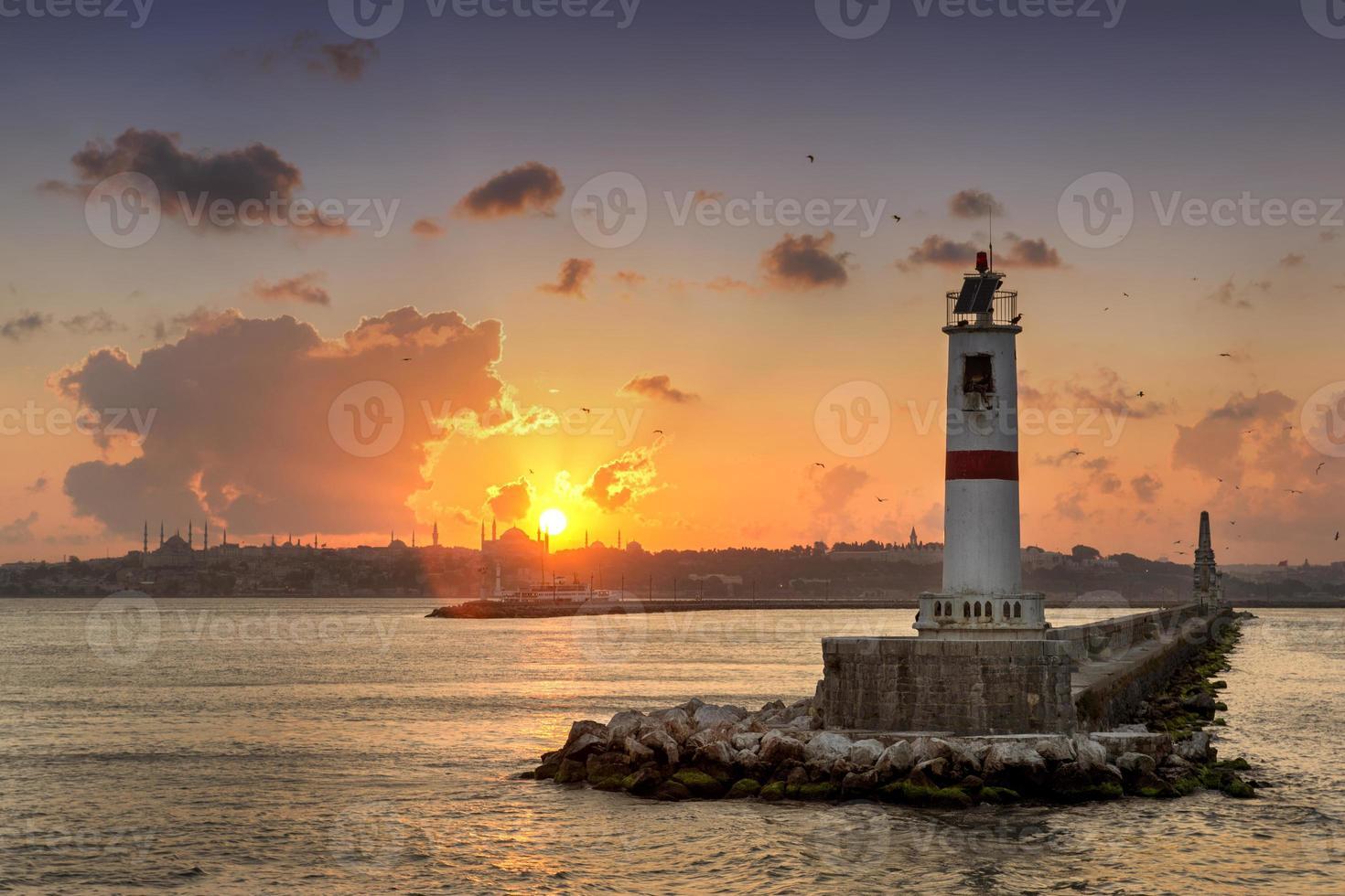 Sonnenuntergang in Istanbul, Truthahn foto