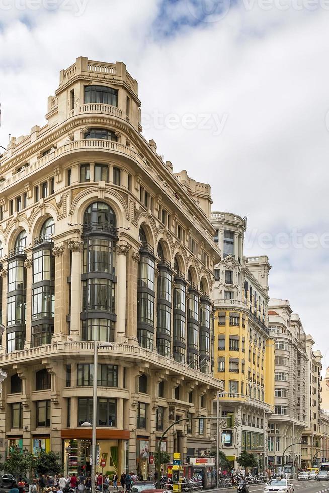 Gran via Street, Madrid foto