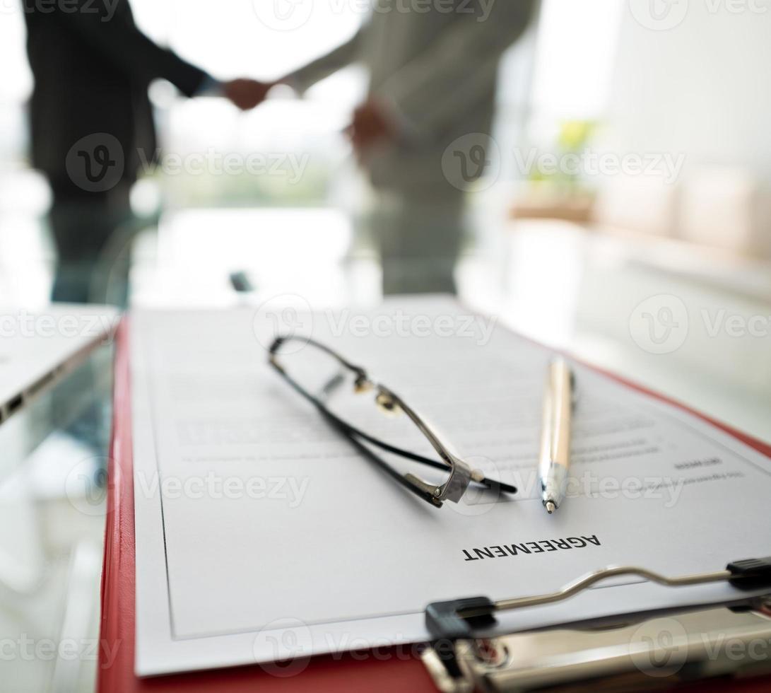 Geschäftsvertragsdokument foto