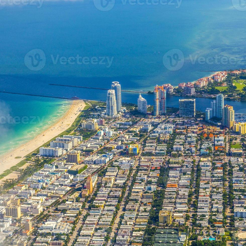 Miami Antenne der Stadt und des Strandes foto