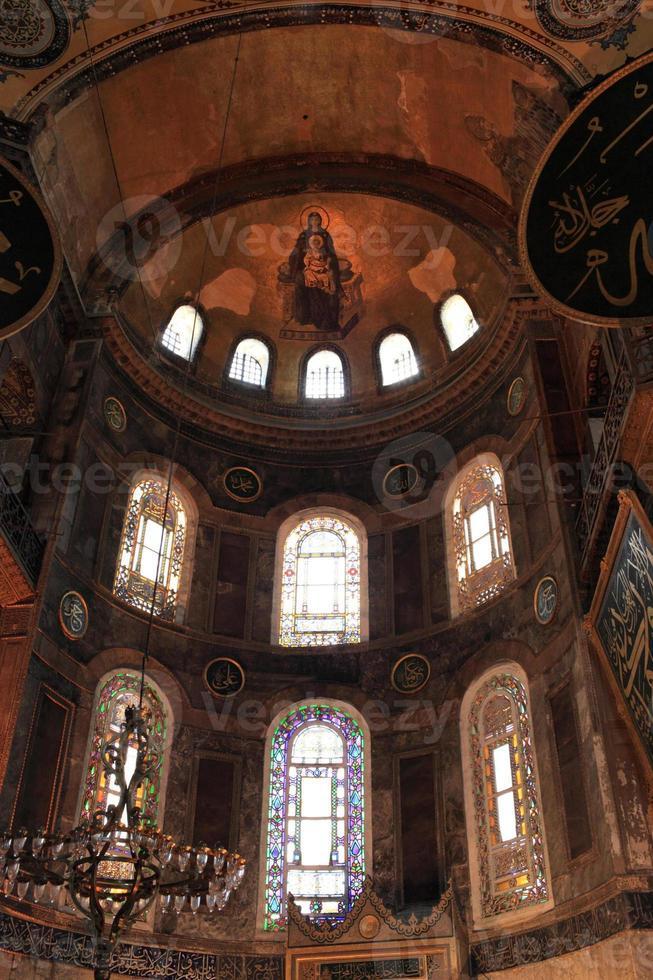 Innenraum von Hagia Sophia foto