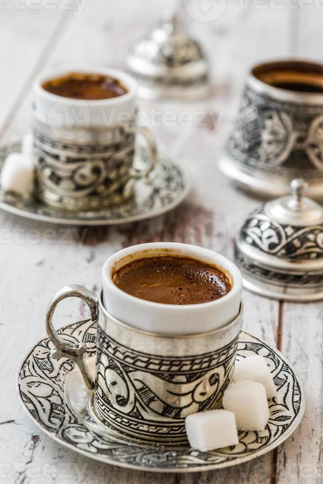 traditioneller türkischer Kaffee foto