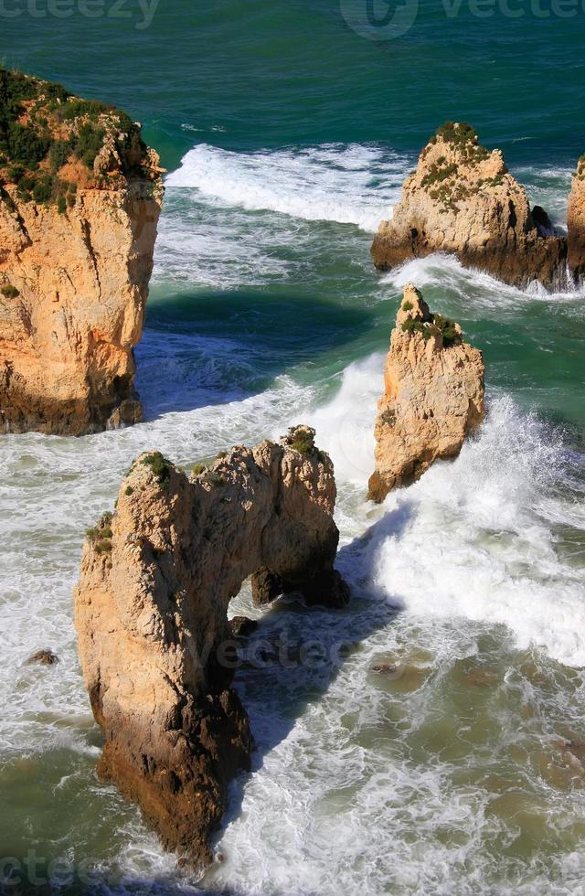 ponta de piedade in Lagos, Algarve, Portugal foto