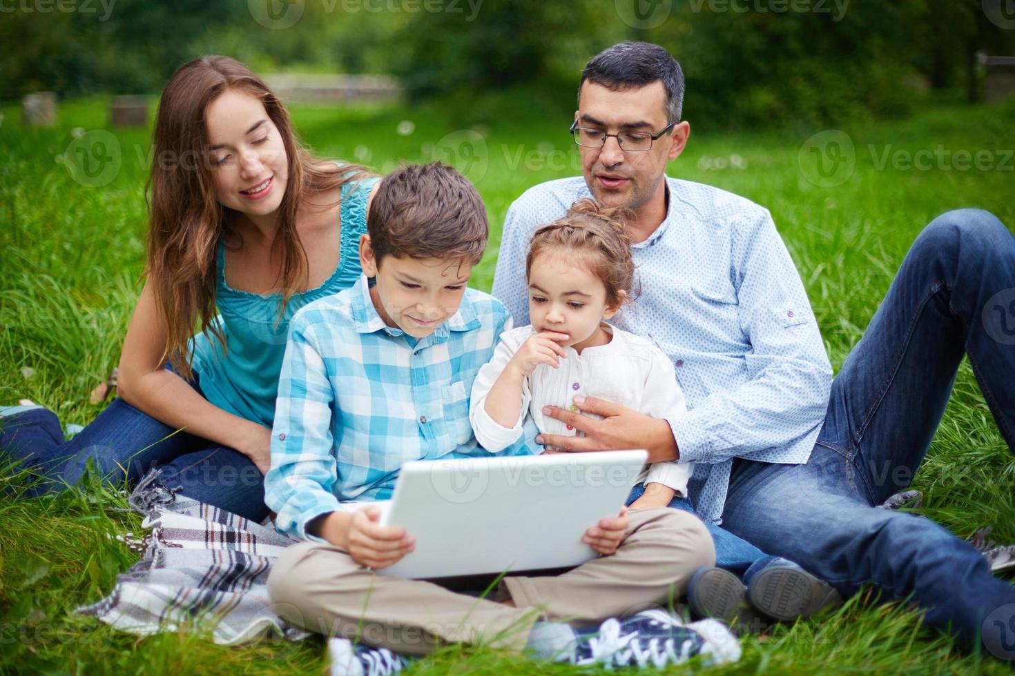 moderne Familie foto