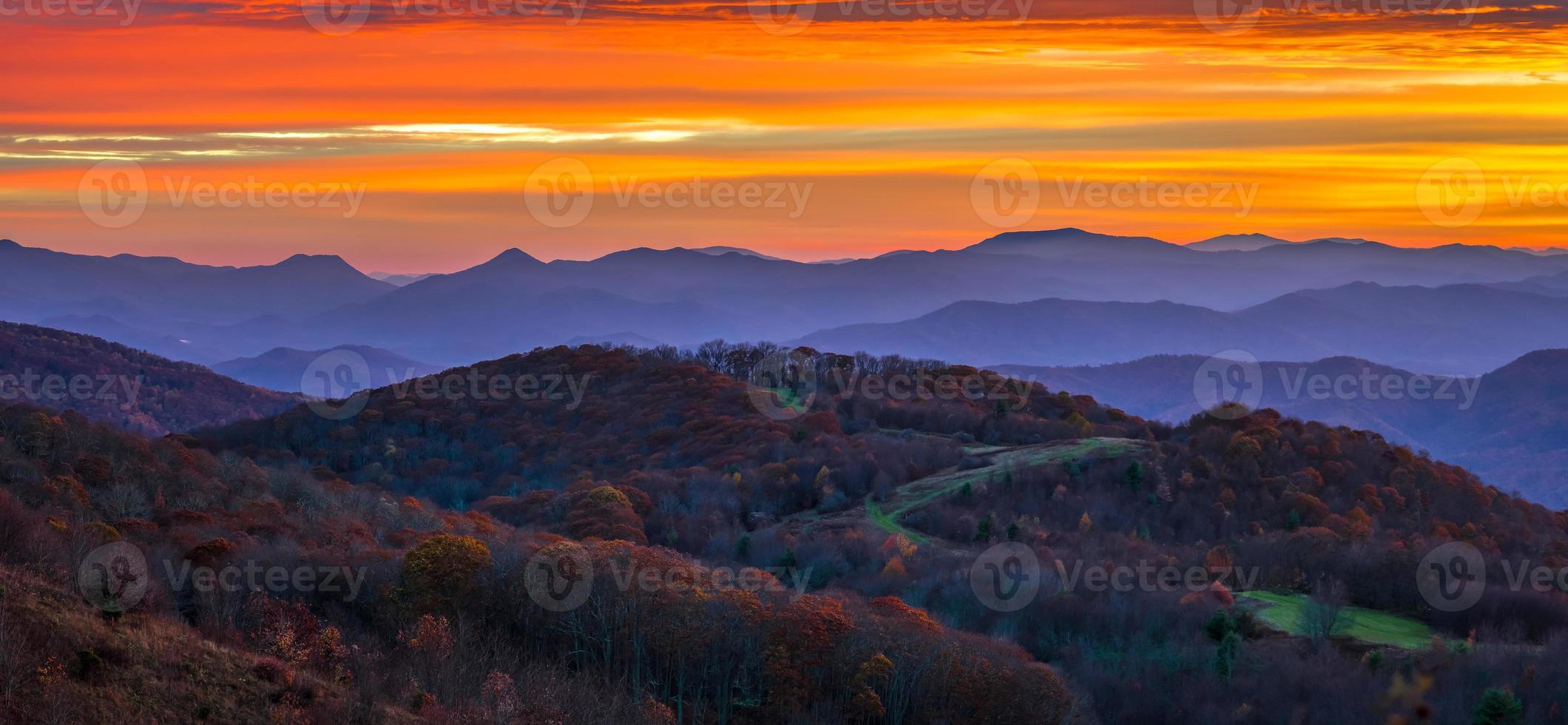 Appalachen Sonnenaufgang foto