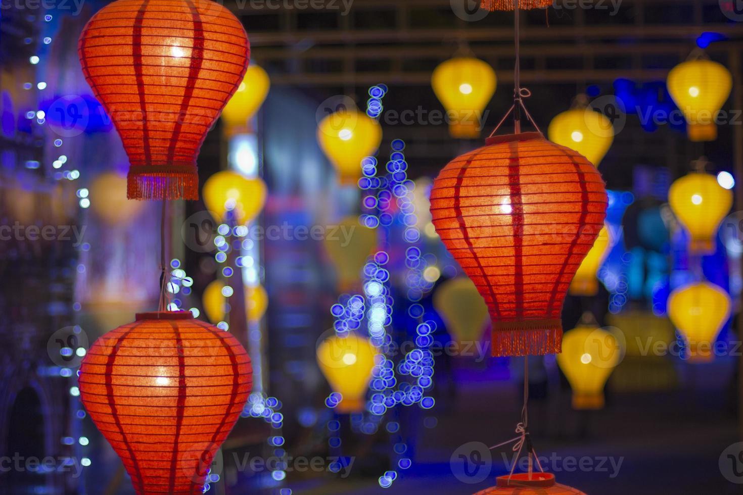 asiatische Laternen im Laternenfest foto