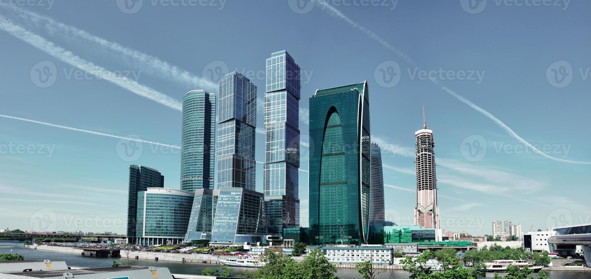 moderne Wolkenkratzer in Moskau foto