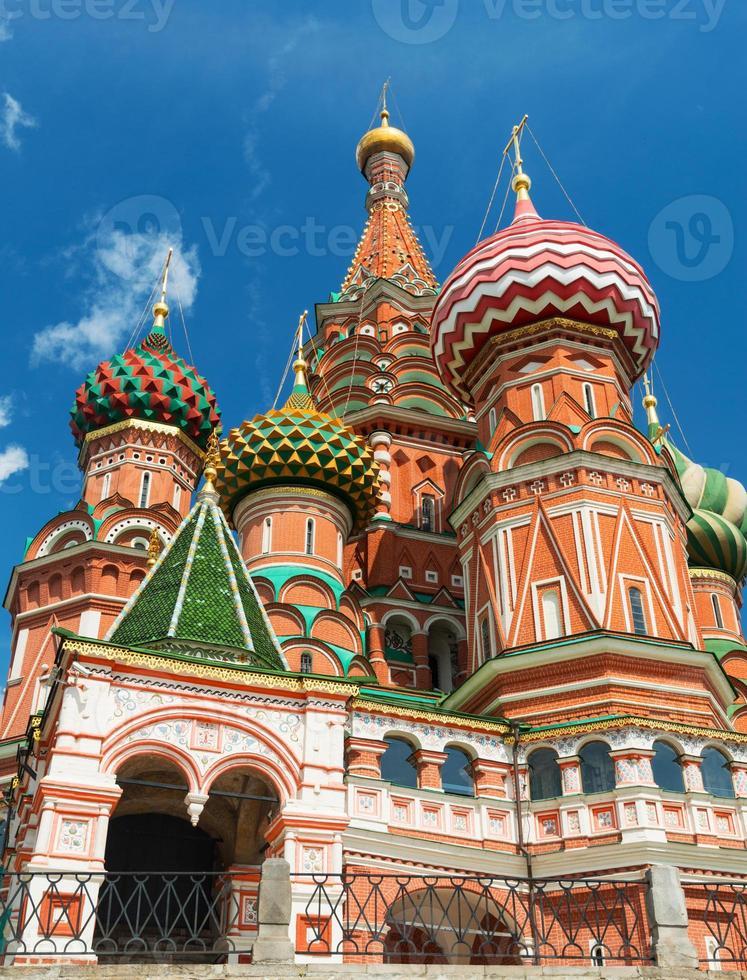 Heilige Basilikum Kathedrale auf dem roten Platz in Moskau, Russland foto