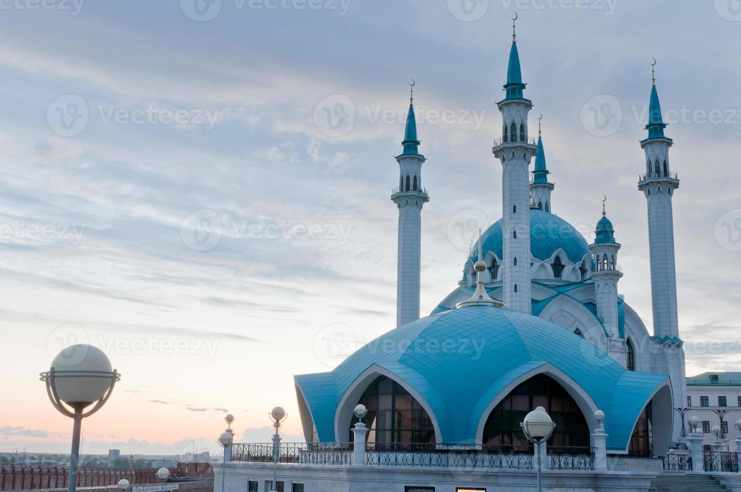 "Moschee ""Kul Sharif"" im Kazan Kreml, Tatarstan, Russland foto"