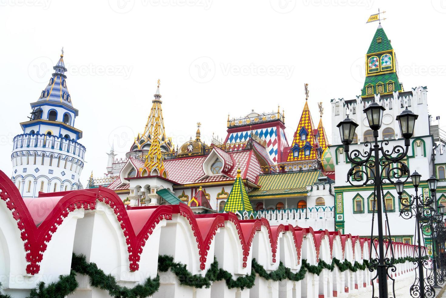 schöne Aussicht auf den Kreml in Izmailovo, Moskau, Russland foto