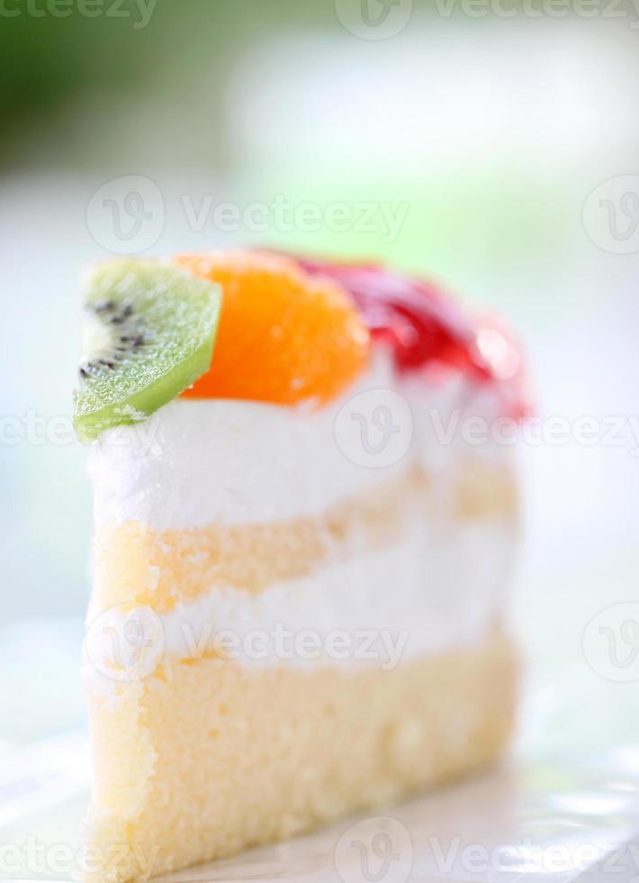 Obstkäsekuchen des Gesundheitsdesserts. foto