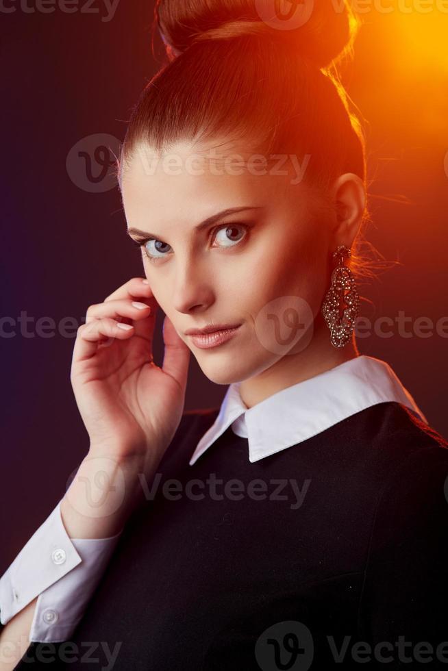Retro weibliches Porträt foto