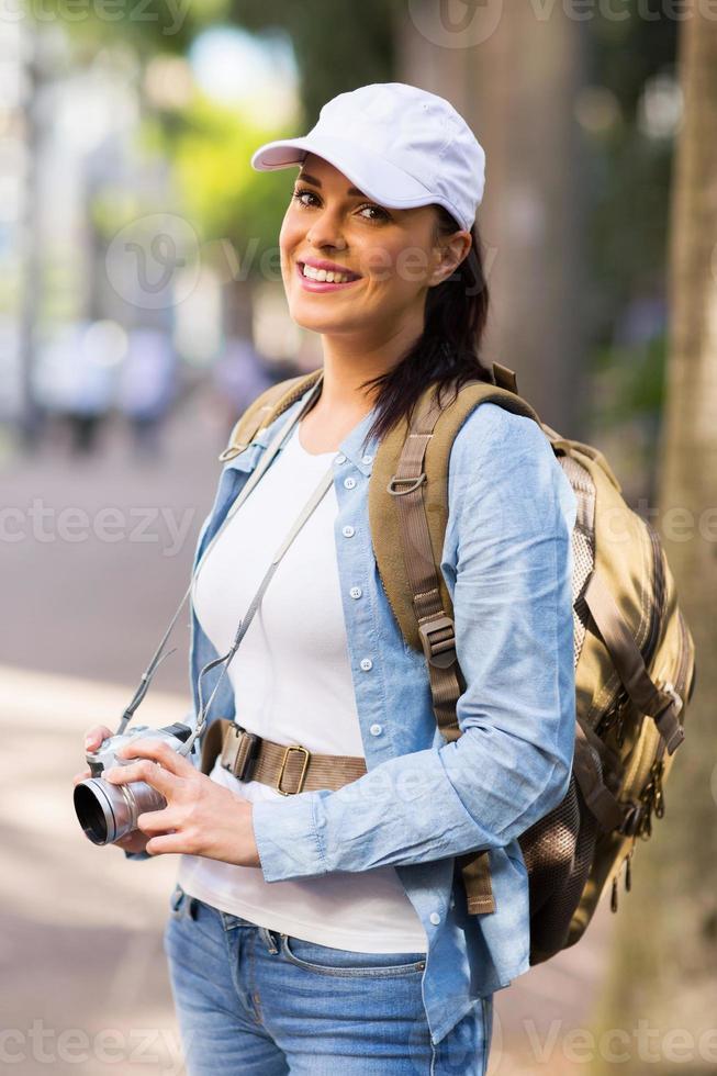Touristin in der Stadt foto