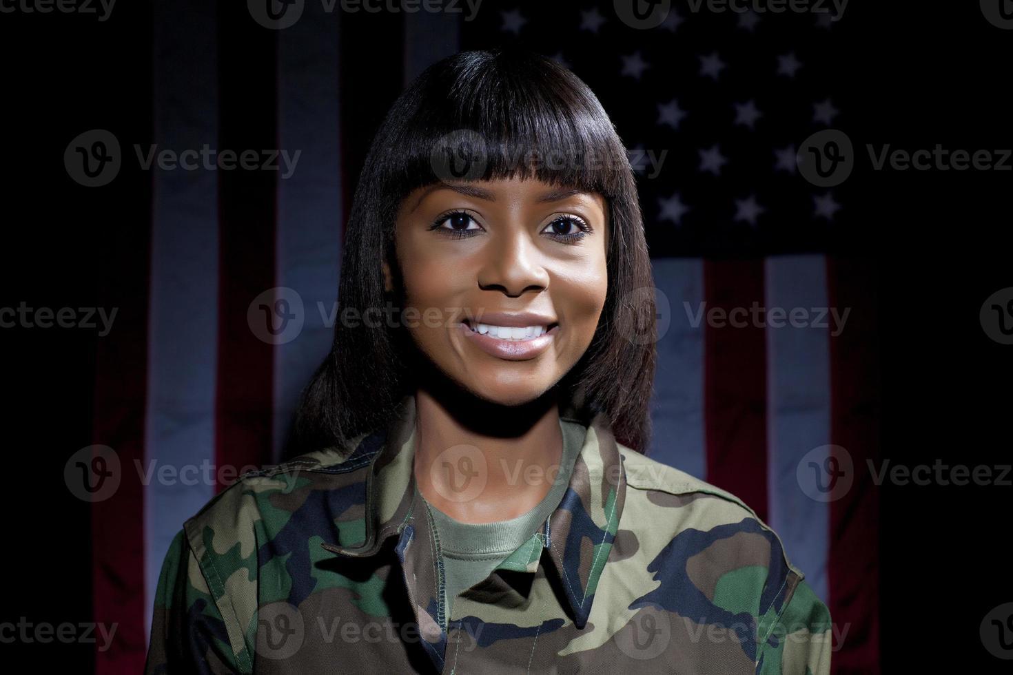 Militärfrau foto