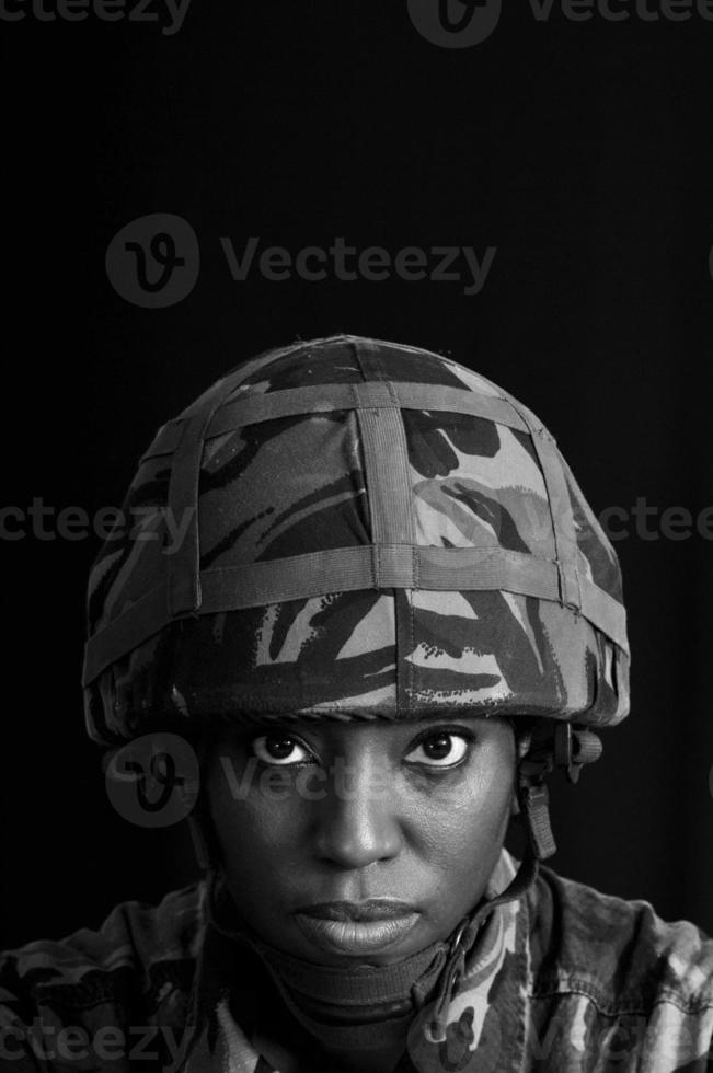 weibliches Soldatenporträt foto