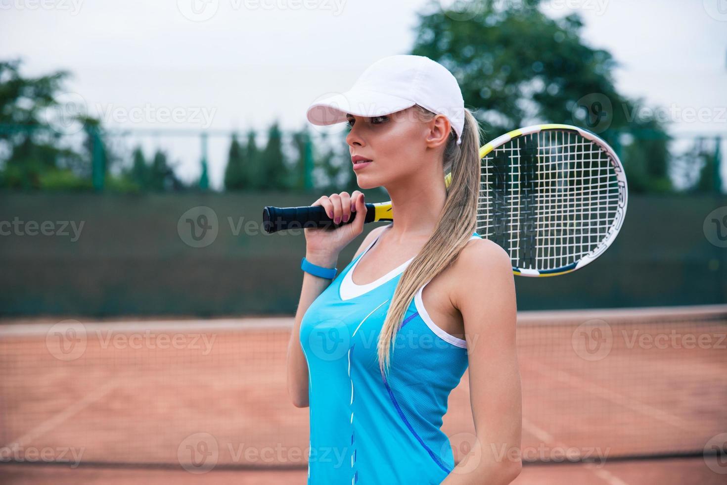 süße Tennisspielerin foto
