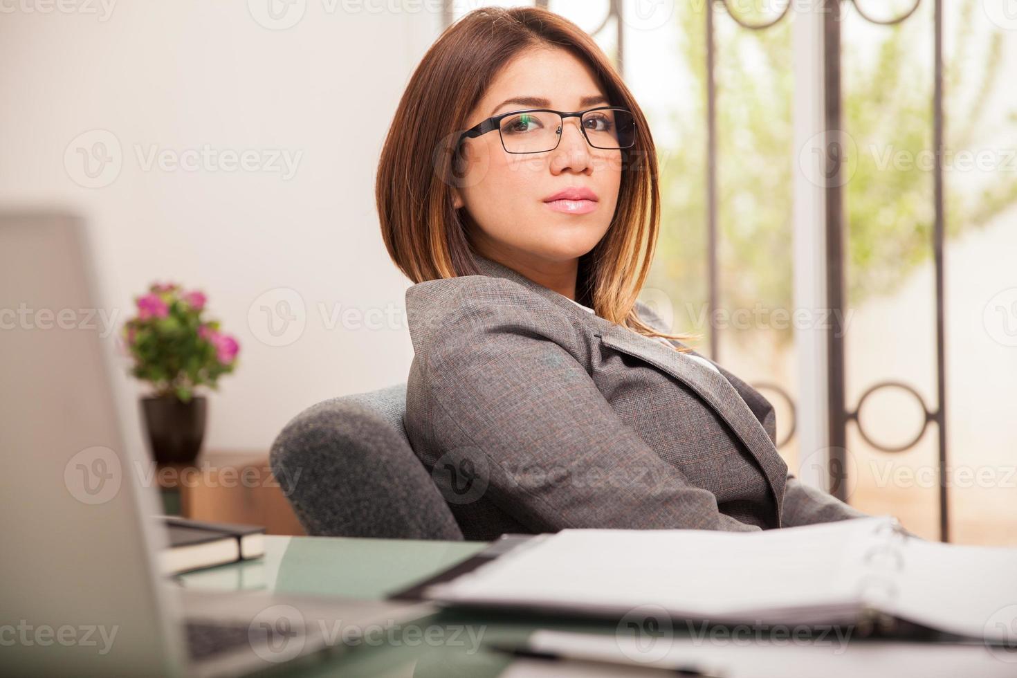 weibliche Geschäftsführerin foto